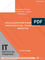 LA VINCULACIÓN ENTRE PLANIFICACIÓN Y PRESUPUESTO DEL TRANSPORTE EN ARGENTINA