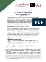 Lachmann El Proceso de Transformar CeIR V1N1