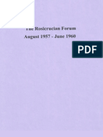 Rosicrucian Forum, August 1957-June 1960