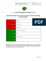 SP-2161 Materials Selection & Corrosion Control for Surface Operating Process, Sep 14 - Final