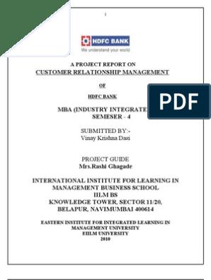 HDFC - Customer Relationship | Banks | Strategic Management