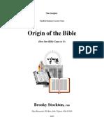Origin of the Bible