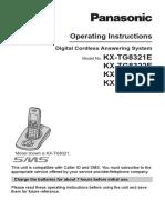 Cordless Manual - Panasonic - KX-TG8321E Operating Instructions