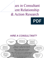 Issues in Consultant Client Relationship & Action Research