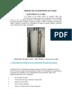Cómo Reparar Un Calentador de Agua Eléctrico o a Gas