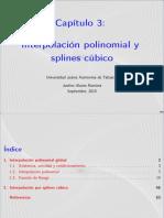 Capitulo3 interpolación polinomial y splines cúbico