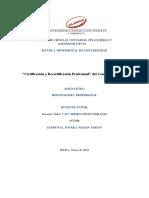 Certificacion y Recertificacion de Un Contador Publico