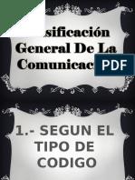 CLASIFICACIÓN GENERAL DE LA COMUNICACIÓN
