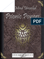 Dreamscarred Press - The Mind Unveiled - Psionic Powers