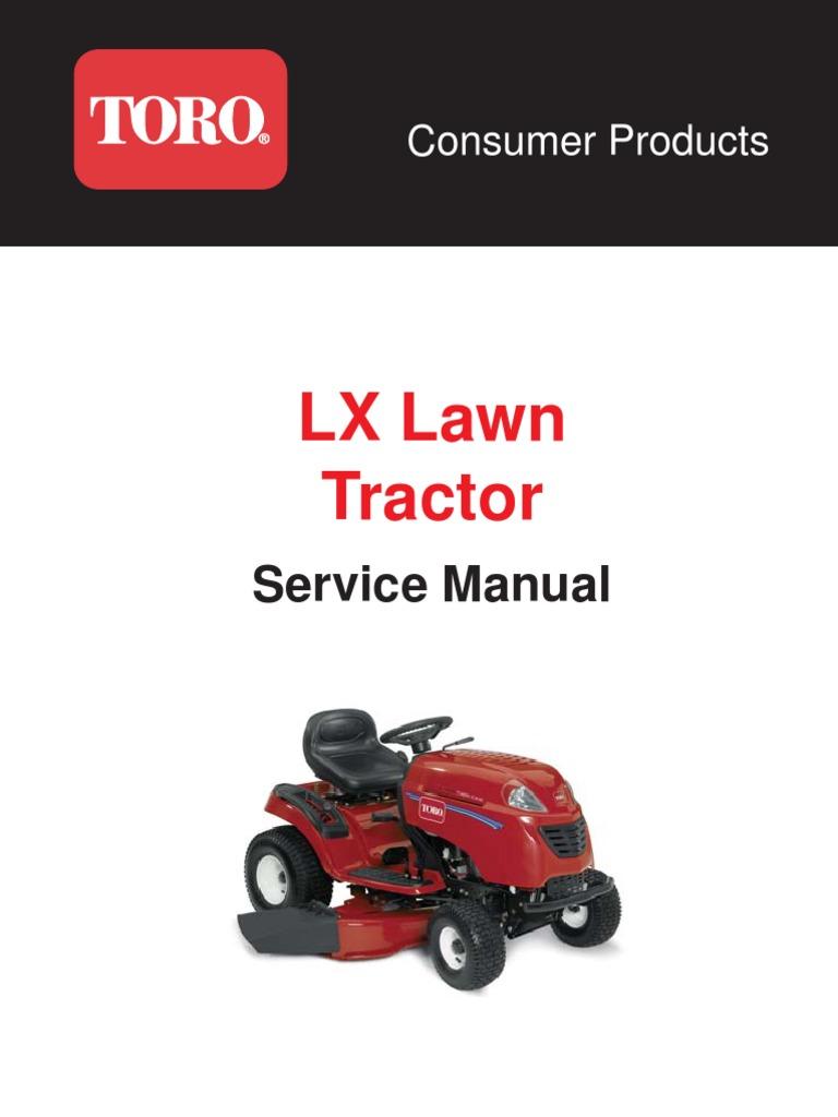 toro xl lawn tractor workshop service repair manual