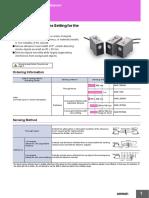 Catalogo Sensor E4B_OMRON Ultrasonico