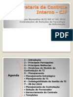 Instrução Normativa SLTI MP Nª4/2010