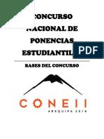 Bases Concurso Ponencias Estudiantiles Xxviconeii2016