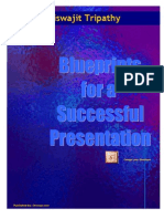 Blue Print for a Successful Presentation