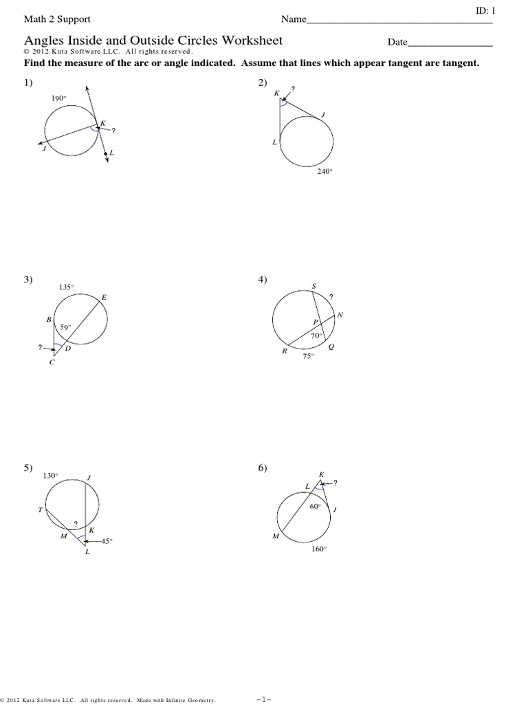 12.5 worksheet practice.pdf | Angle | Differential Geometry