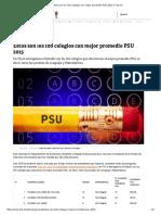 Estos Son Los 100 Colegios Con Mejor Promedio PSU 2015 _ Tele 13