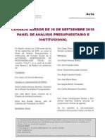 Acta Consejo Asesor Pap 2 2015 de 16 de Septiembre. Web
