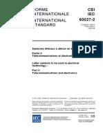 IEC 60027-2 Symbols