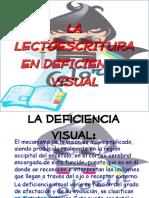 lectura y escritura deficiencia visual