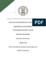 Consulta de Terminos de analisis financiero