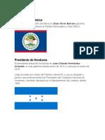 Presidentes de Centro America