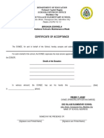 Deed of Acceptance