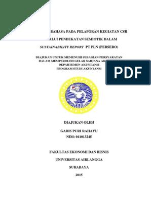 Skripsi Akuntansi Full Narsisme Bahasa Dalam Pelaporan Akuntansi