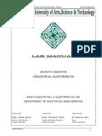 Industrial Electronics Manual