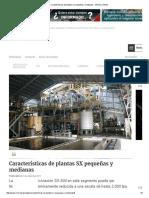Características de Plantas SX Pequeñas y Medianas - Minería Chilena