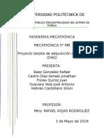 Reporte Proyecto Sensores