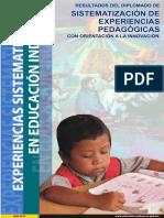 Libro de Sistematización de la experiencia pedagogica
