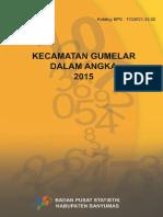 Kecamatan Gumelar Dalam Angka 2015