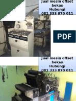 081 333 870 011 (Telkomsel) Alat offset