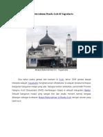 Kembaran Masjid Baiturrahman Banda Aceh Di Yogyakarta