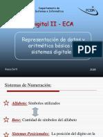 Representacion de datos y aritmetica basica eb sistemas digitales
