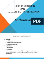 ANALISIS INSTRUMEN