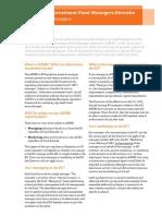 Pwc Aifmd Regulatory Brief Impact Managers