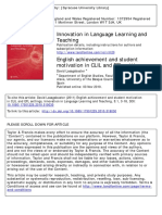 Innovation in Language Learning and Teaching Volume 5 Issue 1 2011 [Doi 10.1080%2F17501229.2010.519030] Lasagabaster, David -- English Achievement and Student Motivation in CLIL and EFL Settings