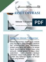PRESENTASI METODE TRANSPORTASI.1