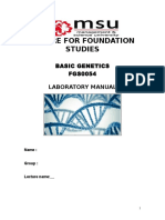 lab manual genetics