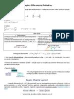 Equações Diferenciais Ordinárias - Resumo