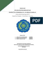 Makalah Aik 3 Profil Dan Pemikiran Kh Ahmad Dahlan