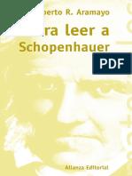 Para Leer a Schopenhauer - Aramayo, Roberto R.