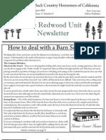 Redwood Unit Newsletter, August 2009 ~ Back Country Horsemen of California