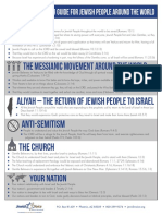 Prayer Infographic Jewish People Letter Size