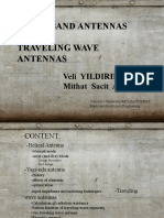 BroadBand Antennas and Traveling Wave Antennas