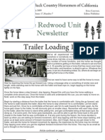 Redwood Unit Newsletter, July 2009 ~ Back Country Horsemen of California