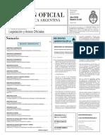 Boletín Oficial de la República Argentina, Número 33.387. 27 de mayo de 2016