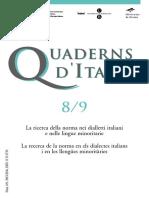 Cuaderns d'Italià - 08-09 (2004) - La Ricerca Della Norma Nei Dialletti Italiani e Nelle Lingue Minoritarie