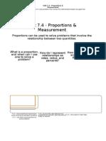 7.4 Proportion & Measurement